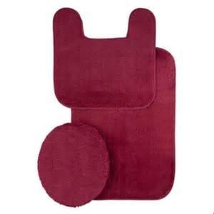 2miles kimball burgundy plush bath rug set sale