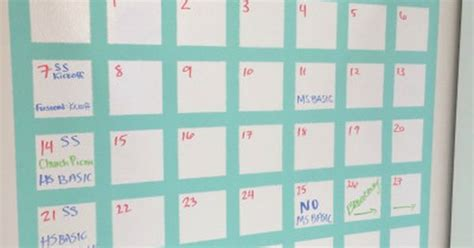 how to make a erase calendar from a picture frame how to make a erase calendar 2 organize
