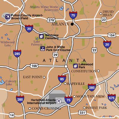 map of atlanta with exits hartsfield jackson atlanta international airport airport