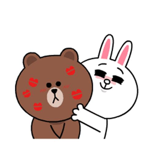 theme changer line brown special brown cony s heaps of hearts line stickers line store