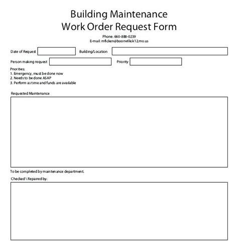 Maintenance Request Template Maintenance Request Form Template Sh Work Order Primary Portrait Maintenance Request Log Template