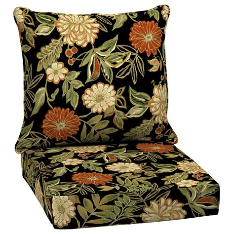 floral patio cushions shop arden outdoor floral black seat patio chair