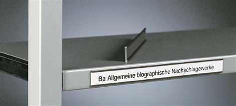 Beschriftung Regale by Bibliothekstechnik Tablarbeschriftung