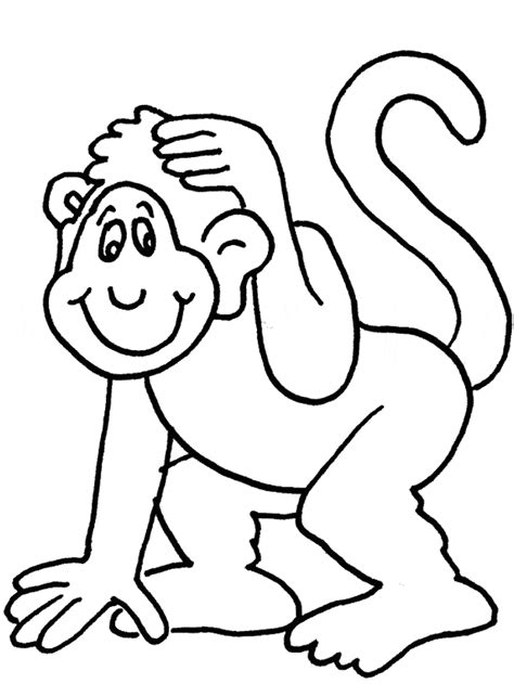 Outline Of A Monkey by Outline And Coloring Pictures For Small