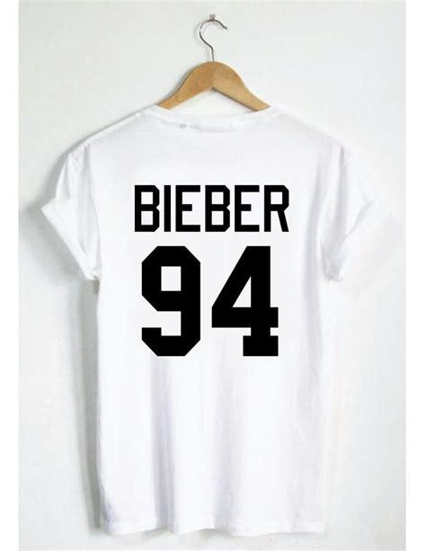 Kaos Justin Bieberjustin Bieber Tshirt justin bieber 94 t shirt belieber jersey style unisex boys gift instagram