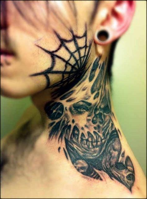 tattoo in neck pain 21 best neck tattoos images on pinterest tattoo ideas