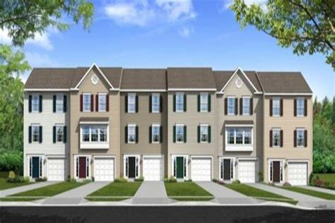 Single Car Garage Plans Townhomes At Belmont West Atlantic Builders Ruther