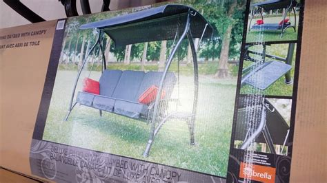 Patio Swing At Costco Sunbrella Patio Swing Daybed With Canopy Costco Weekender