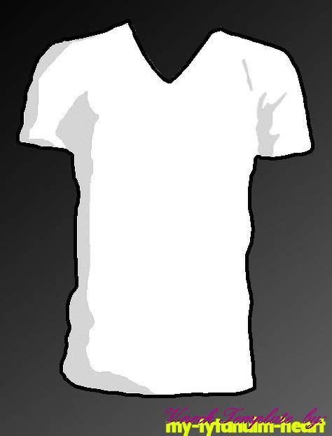 v neck t shirt template by my tytanium heart on deviantart