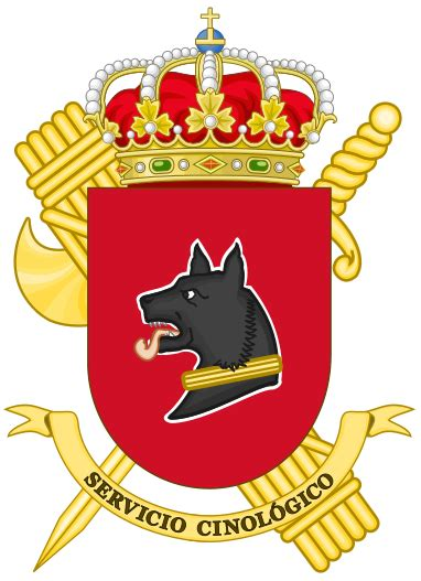 fileservice badge of the guardia civil mountain and speleology rescue file coat of arms of the guardia civil canine service svg