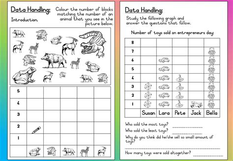 Data And Statistics Worksheets by Maths Data Handling Worksheets Statistics Handling Data Maths Worksheets For Year 3 Age 7 8