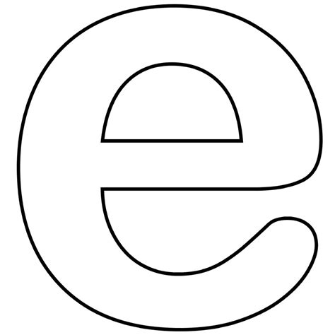 letter e template free coloring pages of large letter e