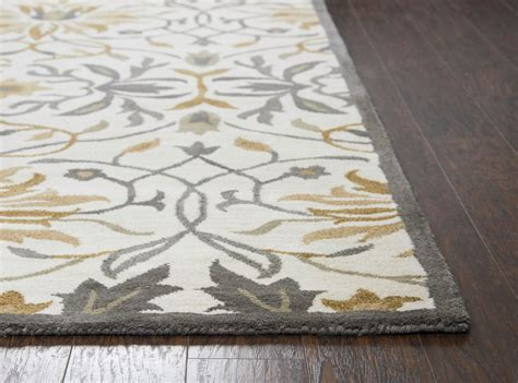 8 x 10 wool rugs valintino floral ornamental wool area rug in gray yellow 8 x 10