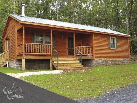 modular log cabin homes frontier log cabin manufactured in pa cozy cabins