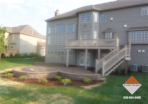 patio and firepit deck patio and firepit d m outdoor living spaces d m