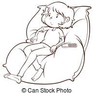 abbracciare il cuscino tv guardante giovane abbracciare mentre ragazza