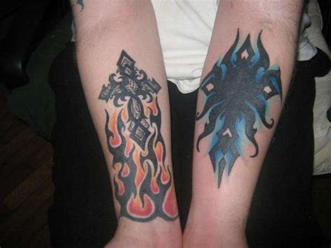 fire and ice tattoo dragons and tattoos pictures to pin on