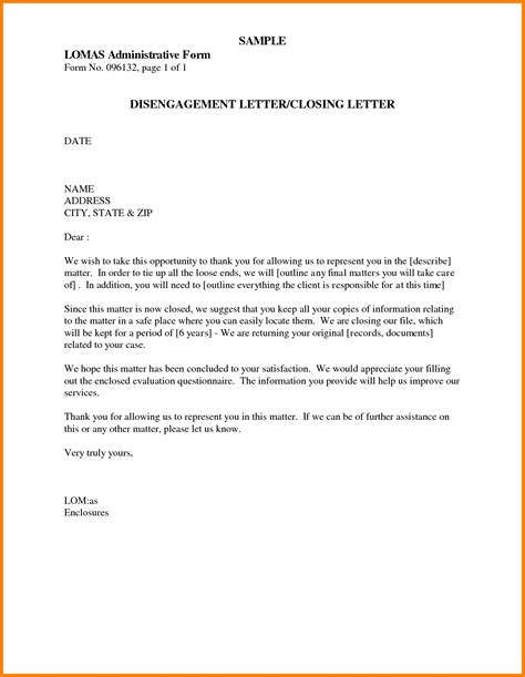 Business Letter Template Closing Closing Lines For Business Letters The Letter Sle