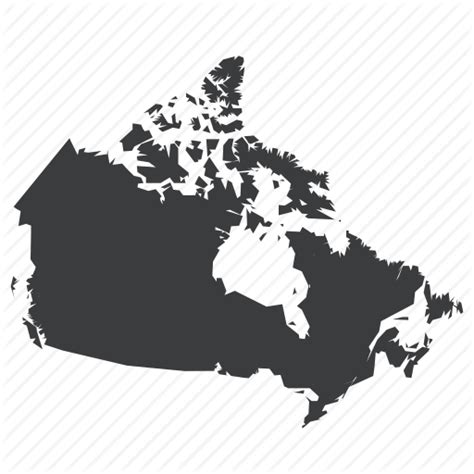 us map outline icon canada canadian country location map navigation