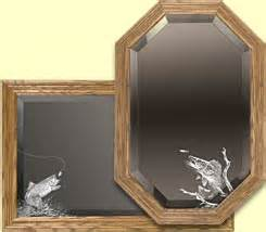 themed mirror fishing themed mirrors etched fisherman mirror decorative etched mirror