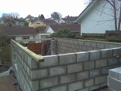 How To Build A Block Shed by A Block Work Garage Www Southwest Stonecraft Co Uk
