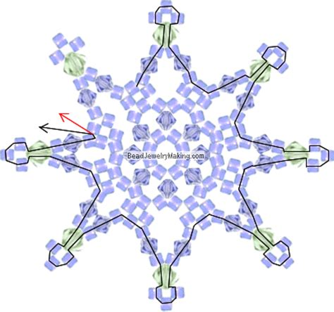 16 beaded snowflake patterns tutorials