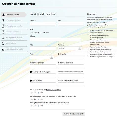 Formulaire Cv by Resume Format Formulaire De Cv 224 Remplir