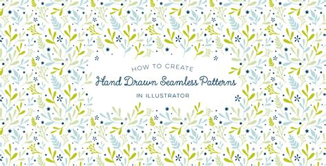 seamless pattern on illustrator how to create hand drawn seamless patterns in illustrator