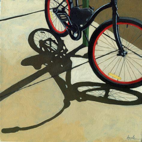bike painting bicycle wheels bike print from original by