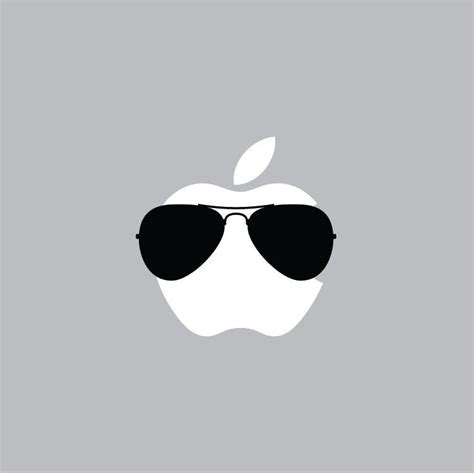 Apple Zeichen Aufkleber by Aviator Glasses Mac Apple Logo Laptop Vinyl Decal