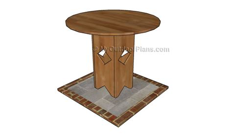 How To Make A Pedestal Pedestal Table Plans Free Outdoor Plans Diy Shed