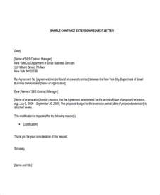 Letter Of Intent Extension Template Sle Request Letter For Contract Extension Cover