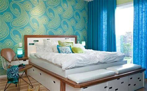 blaue vorhänge schlafzimmer farben ideen eine frische farbmischung aus