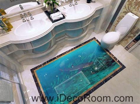 shark   sea fish  floor decals  wallpaper