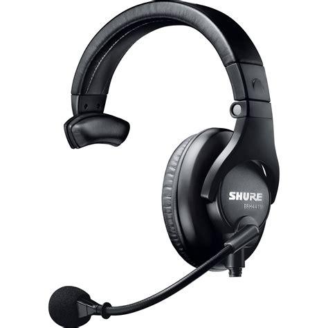 Headset Shure shure single sided broadcast headset brh441m lc b h photo