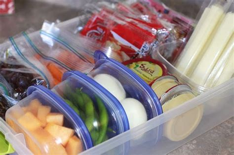 Healthy Snack Drawer by Healthy Snack Drawer Organization