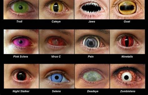 coolest eye colors novelty contact lenses can cause sight loss the beat