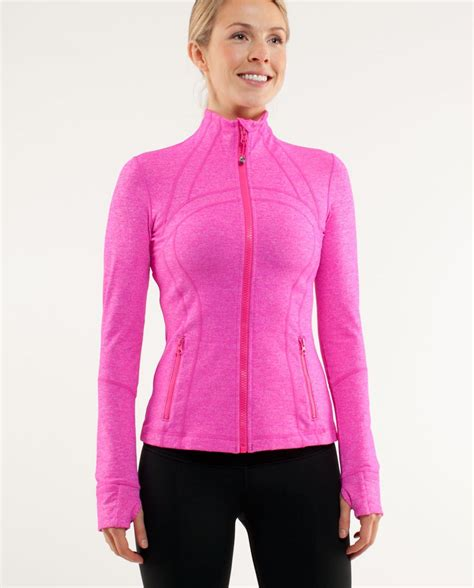 lululemon define jacket brushed heathered paris pink