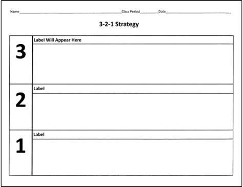 3 2 1 exit slip template reviewing and summarizing strategies s weblog