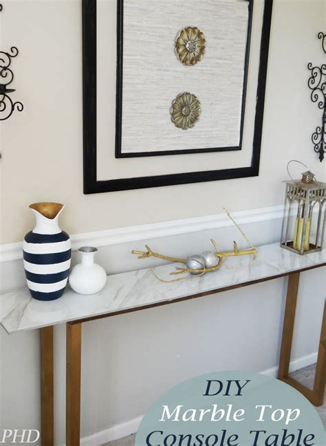 marble top console table diy marble top console table