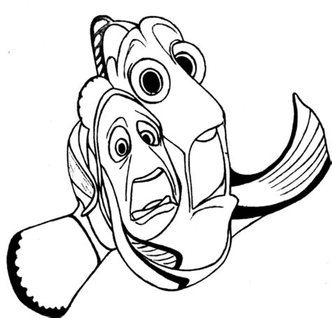 free coloring pages of bruce the shark from nemo
