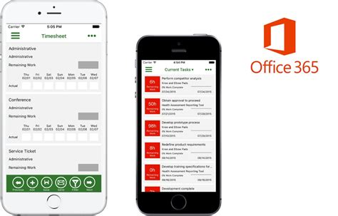 Office 365 Project by Microsoft Office 365 Project Time Reporter Comes To Ios