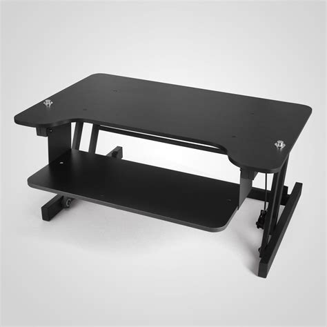 fancierstudio riser desk standing desk ergonomic adjustable height stand up desk workstation