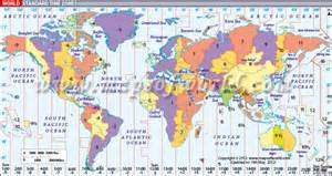 Time Zone Map Of The World by Time Zones Of The The World Pictures To Pin On Pinterest