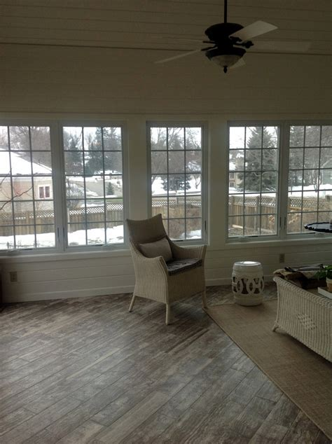 piano travertine sunroom floor  vein cut stone