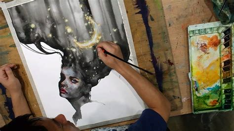 cliffannie forrester watercolor drawing by zazac namoo artpeople net
