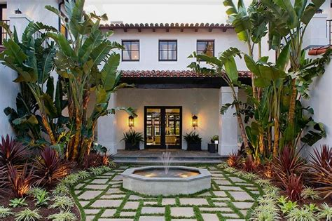spanish style homes with courtyards spanish style outdoor entry home decorating ideas
