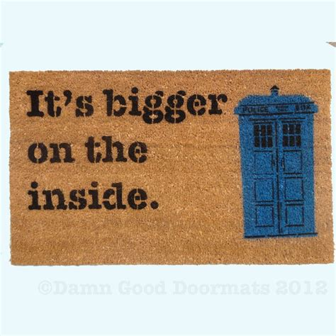 Dr Who Doormat by Dr Who Bigger On The Inside Doormat Mat