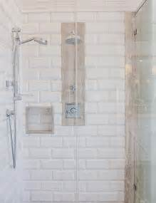 Shower tiling ideas great shower with beveled subway tiles shower
