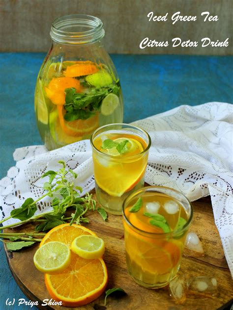 Is Green Tea A Detox Drink by Iced Green Tea Citrus Detox Drink Kitchenette